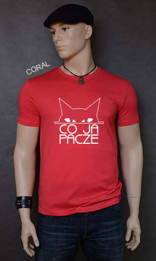 koszulka męska CO JA PACZE kolor coral