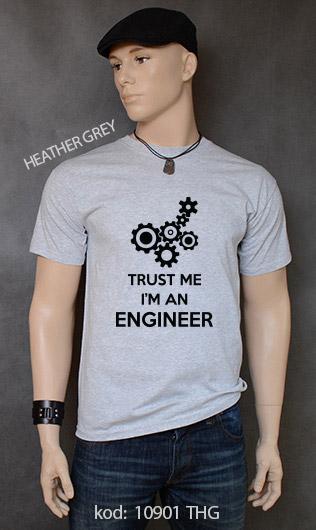 koszulka męska TRUST ME I'M AN ENGINEER kolor heather grey