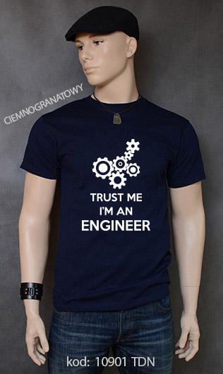 koszulka męska TRUST ME I'M AN ENGINEER kolor ciemnogranatowy