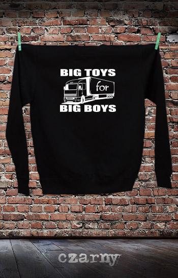 bluza dla niej i dla niego BIG TOYS FOR BIG BOYS kolor czarny