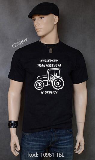 koszulka męska NAJLEPSZY TRAKTORZYSTA W OKOLICY kolor czarny