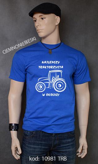 koszulka męska NAJLEPSZY TRAKTORZYSTA W OKOLICY kolor ciemnoniebieski