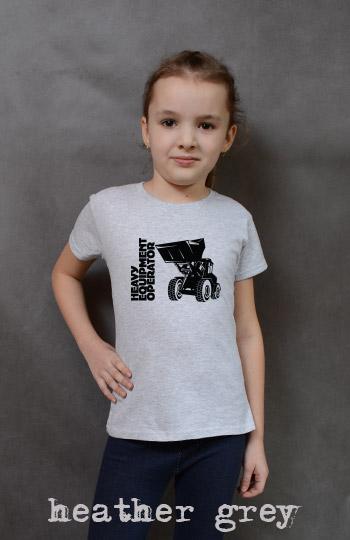 koszulka dziewczęca ŁADOWARKA kolor heather grey