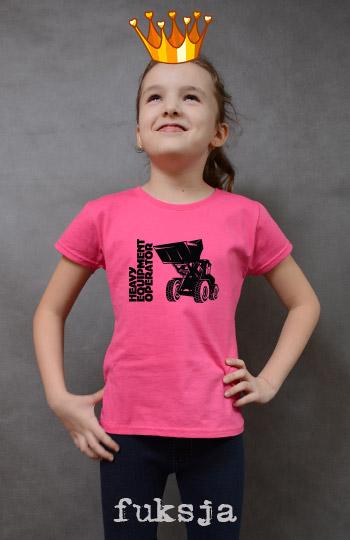 koszulka dziewczęca ŁADOWARKA kolor fuksja