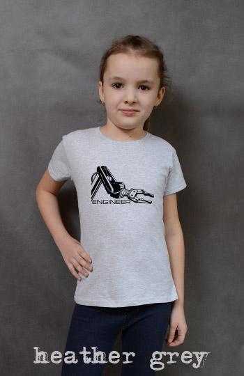 koszulka dziewczęca ENGINEER kolor heather grey