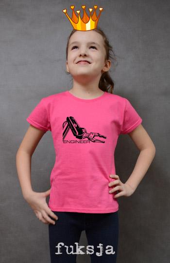 koszulka dziewczęca ENGINEER kolor fuksja