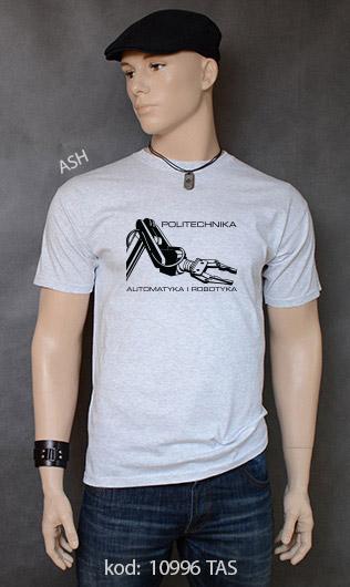 koszulka męska POLITECHNIKA AUTOMATYKA I ROBOTYKA kolor ash