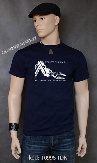 koszulka męska POLITECHNIKA AUTOMATYKA I ROBOTYKA kolor ciemnogranatowy