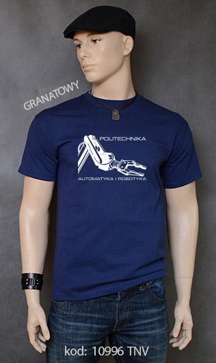 koszulka męska POLITECHNIKA AUTOMATYKA I ROBOTYKA kolor granatowy