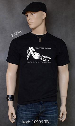 koszulka męska POLITECHNIKA AUTOMATYKA I ROBOTYKA kolor czarny