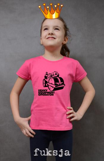 koszulka dziewczęca WALEC DROGOWY kolor fuksja
