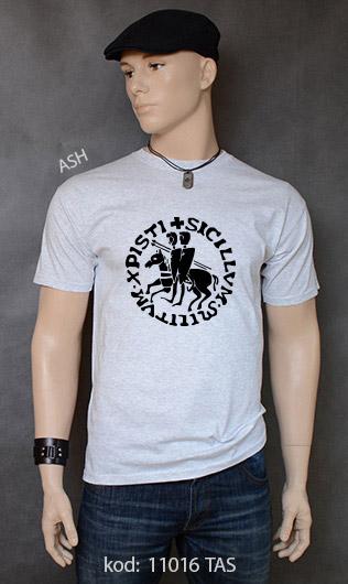 koszulka męska PIECZĘĆ ZAKONU TEMPLARIUSZY kolor ash