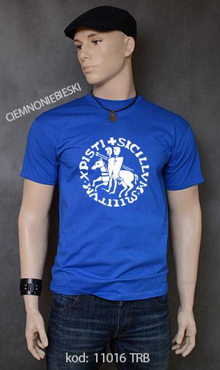 koszulka męska PIECZĘĆ ZAKONU TEMPLARIUSZY kolor ciemnoniebieski