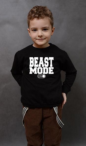 bluza dziecięca BEAST MODE kolor czarny