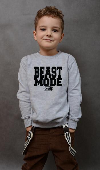 bluza dziecięca BEAST MODE kolor szary