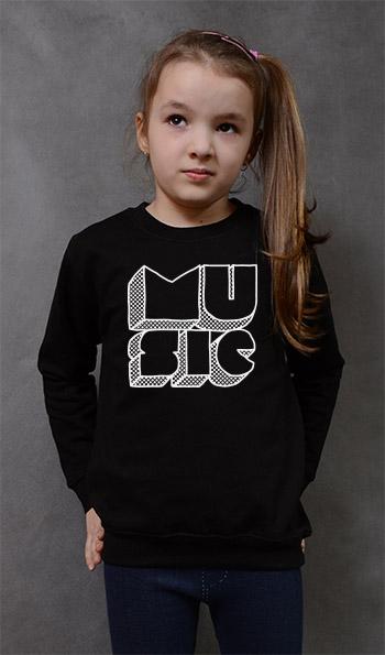 bluza dziecięca MUSIC kolor czarny