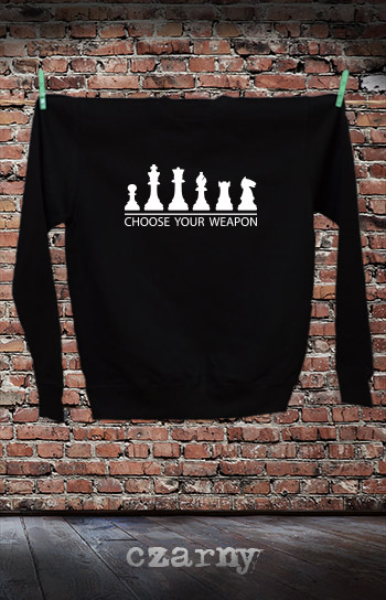 bluza dla niej i dla niego CHOOSE YOUR WEAPON CHESS kolor czarny