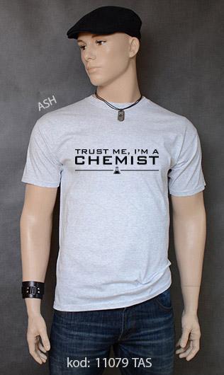 koszulka męska TRUST ME I'M A CHEMIST kolor ash