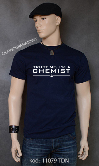 koszulka męska TRUST ME I'M A CHEMIST kolor ciemnogranatowy