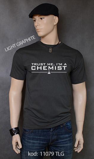 koszulka męska TRUST ME I'M A CHEMIST kolor light graphite