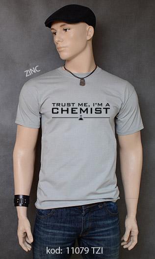 koszulka męska TRUST ME I'M A CHEMIST kolor zinc