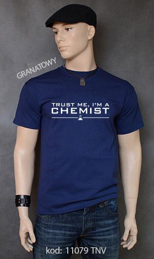 koszulka męska TRUST ME I'M A CHEMIST kolor granatowy