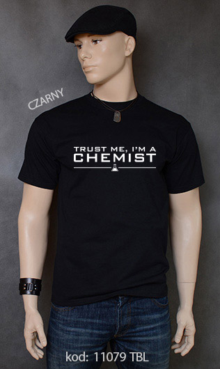 koszulka męska TRUST ME I'M A CHEMIST kolor czarny
