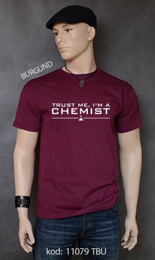 koszulka męska TRUST ME I'M A CHEMIST kolor burgund