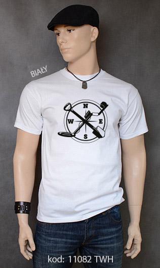 koszulka męska WYKOPKI kolor biały