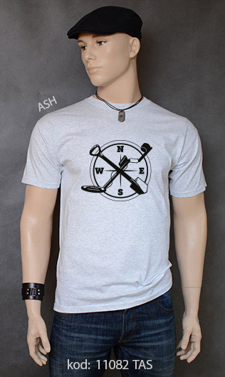 koszulka męska WYKOPKI kolor ash