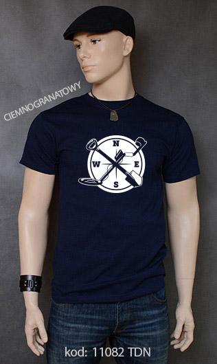 koszulka męska WYKOPKI kolor ciemnogranatowy