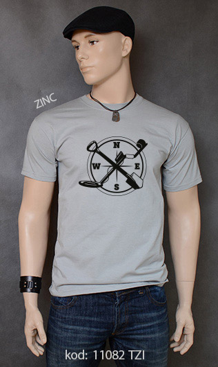 koszulka męska WYKOPKI kolor zinc