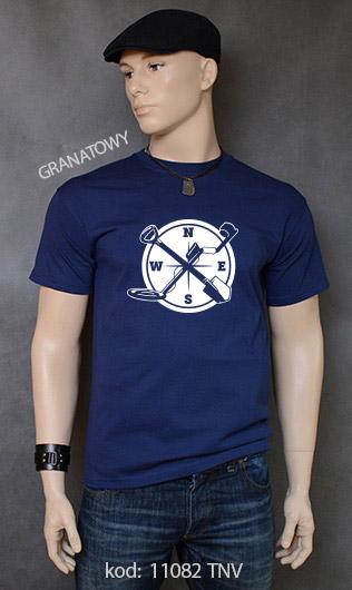 koszulka męska WYKOPKI kolor granatowy
