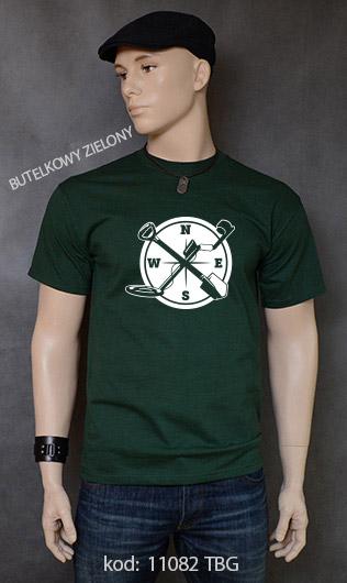 koszulka męska WYKOPKI kolor butelkowy zielony