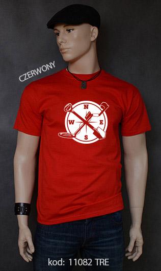 koszulka męska WYKOPKI kolor czerwony