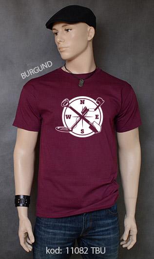 koszulka męska WYKOPKI kolor burgund