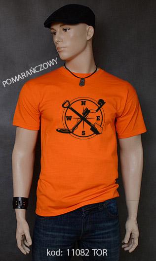 koszulka męska WYKOPKI kolor pomarańczowy