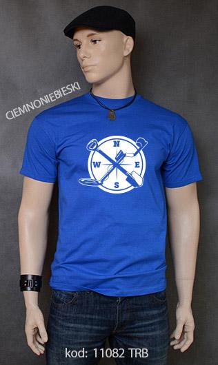 koszulka męska WYKOPKI kolor ciemnoniebieski