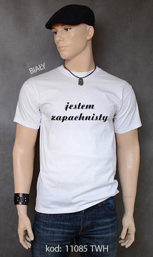 koszulka męska JESTEM ZAPACHNISTY kolor biały