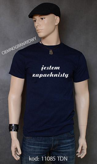 koszulka męska JESTEM ZAPACHNISTY kolor ciemnogranatowy