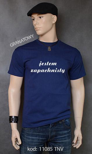 koszulka męska JESTEM ZAPACHNISTY kolor granatowy