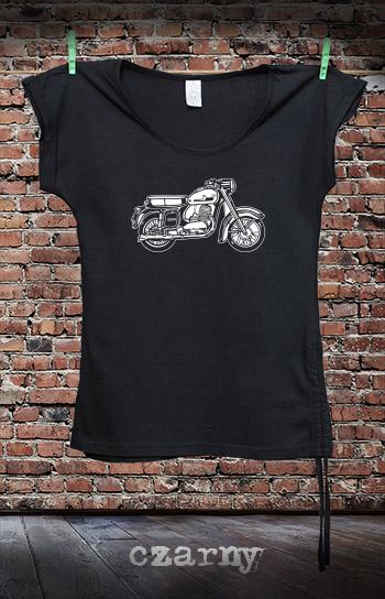 koszulka damska fashion MOTOCYKL kolor czarny