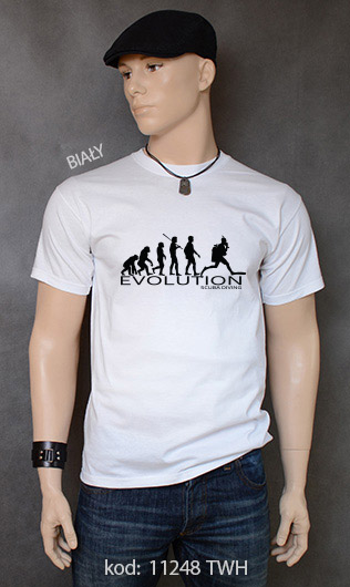 koszulka męska SCUBA DIVING EVOLUTION kolor biały