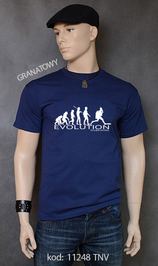 koszulka męska SCUBA DIVING EVOLUTION kolor granatowy