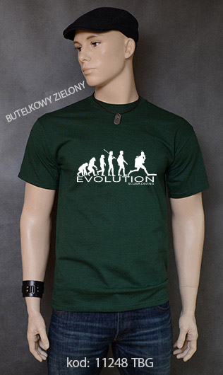 koszulka męska SCUBA DIVING EVOLUTION kolor butelkowy zielony
