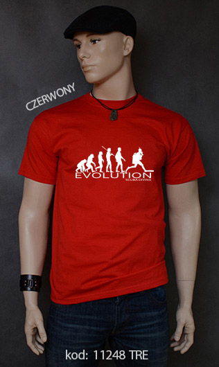koszulka męska SCUBA DIVING EVOLUTION kolor czerwony
