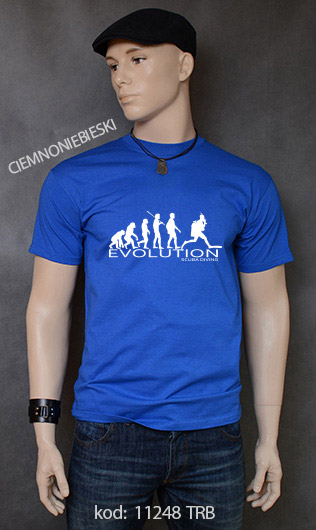 koszulka męska SCUBA DIVING EVOLUTION kolor ciemnoniebieski
