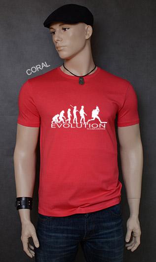 koszulka męska SCUBA DIVING EVOLUTION kolor coral