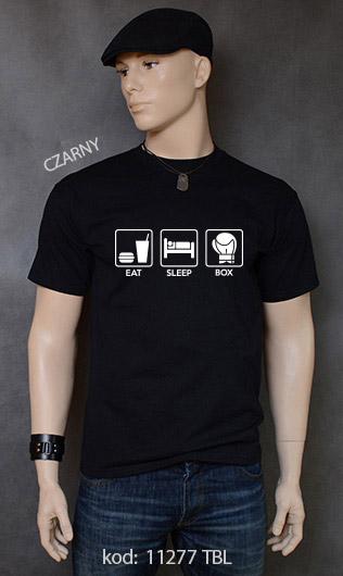 koszulka męska EAT SLEEP BOX kolor czarny