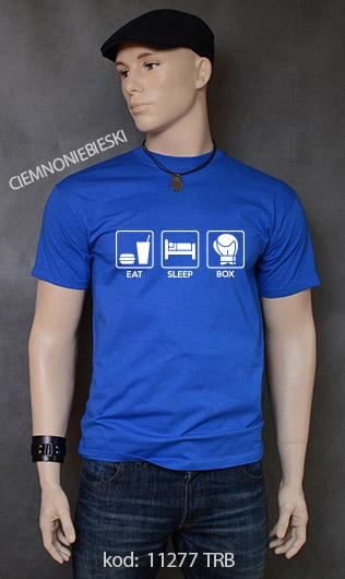 koszulka męska EAT SLEEP BOX kolor ciemnoniebieski